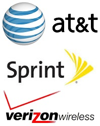 AT&T Wireless, Sprint, and Verizon Wireless